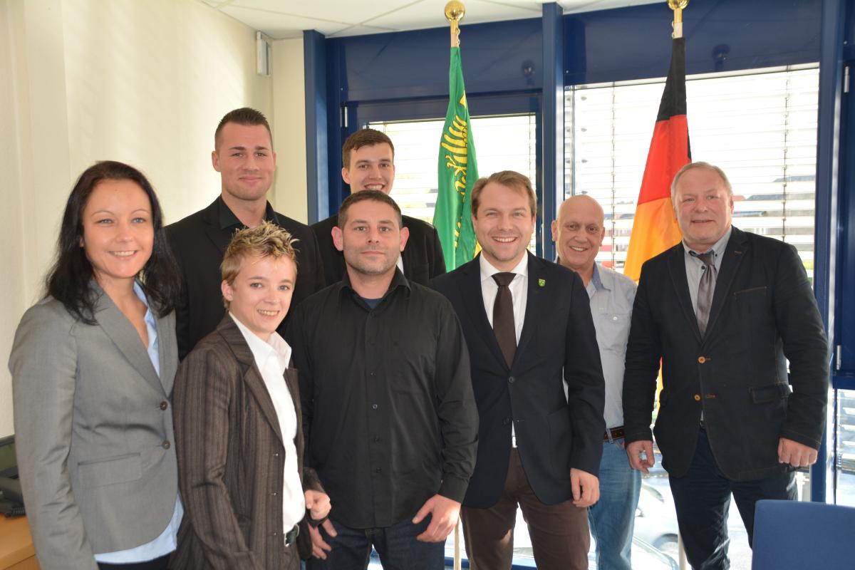 Empfang der Nationalmannschaft im Rommerskirchener Rathaus