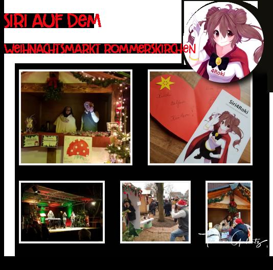 Siri auf dem Rommerskirchener Weihnachtsmarkt