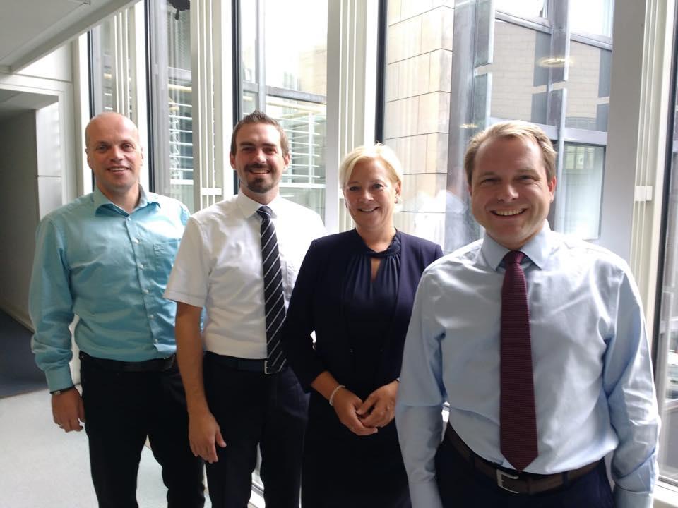 Die Bürgermeister Krützen, Mertens und Lierenfeld besuchen ihre Landtagsabgeordnete im Landtag