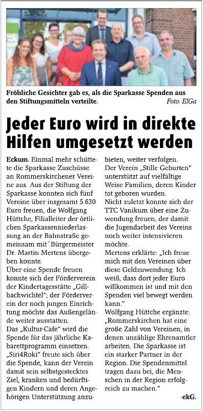 Jeder Euro wird in direkte Hilfen umgesetzt werden