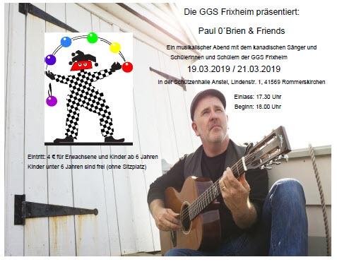 Konzert mit Paul O´Brien und Kindern der GGS Frixheim