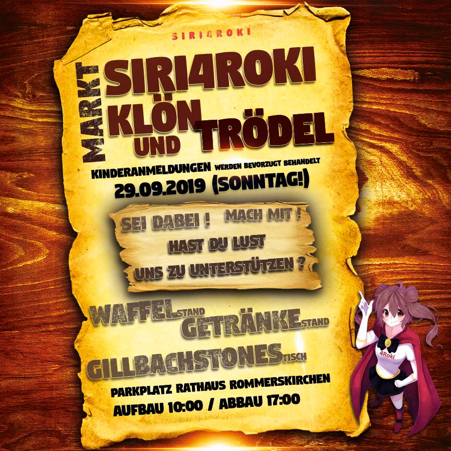 Siri4roki veranstaltet den 2. Klön- und Trödelmarkt – wir freuen uns über Eure Unterstützung