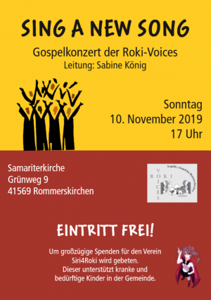 Sing a new Song - Gospelkonzert der Roki-Voices am 10.11.2019
