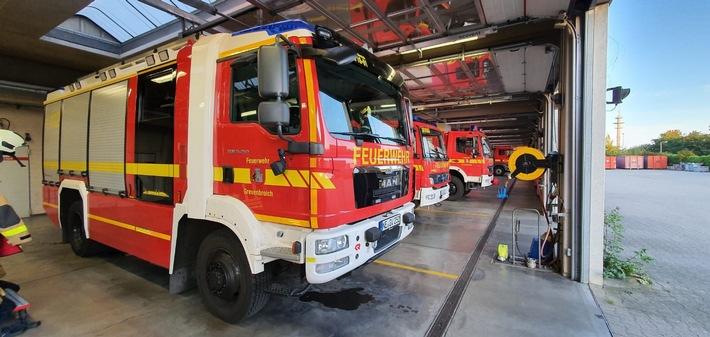 FW Grevenbroich: Gasaustritt in Grevenbroicher Industriebetrieb // Keine Schadstoffbelastung bei Messungen im Stadtgebiet feststellbar – Keine Personen verletzt