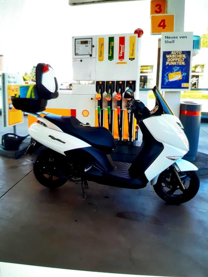 POL-NE: Diebstahl eines Motorrollers – Wer kann Hinweise zum abgebildeten Leichtkraftrad geben?