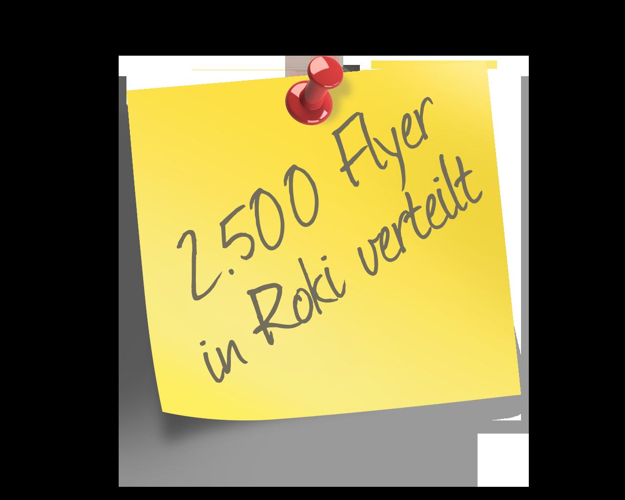 2.500 Flyer in die Rommerskirchener Haushalte verteilt
